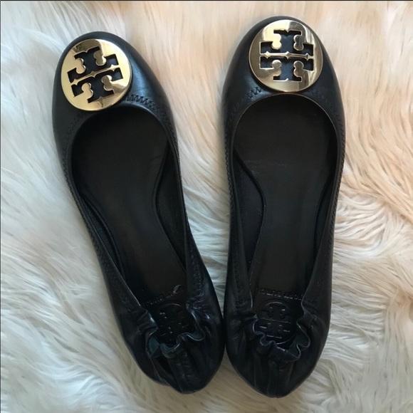 Tory Burch Shoes - Tory Burch Black Flat